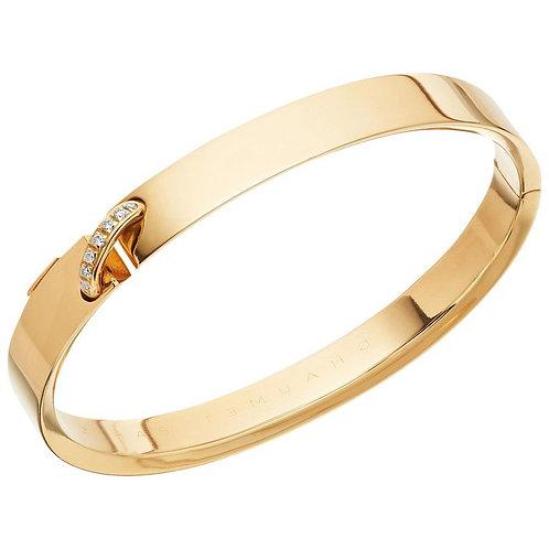 Chaumet Paris French, Liens Évidence Diamond Bangle Bracelet 18 Carat Gold