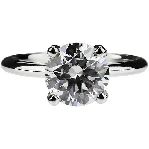 GIA Certified Round Diamond 2.41ct D VS2 Single Stone Solitaire Engagement Ring