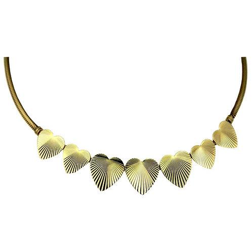 Tiffany & Co. Vintage, Retro Heart Necklace in 14 Karat Yellow Gold