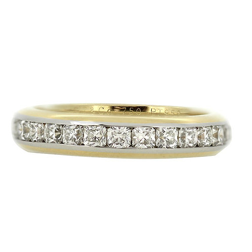 Tiffany & Co 18 ct yellow gold and platinum diamond full eternity Lucida ring