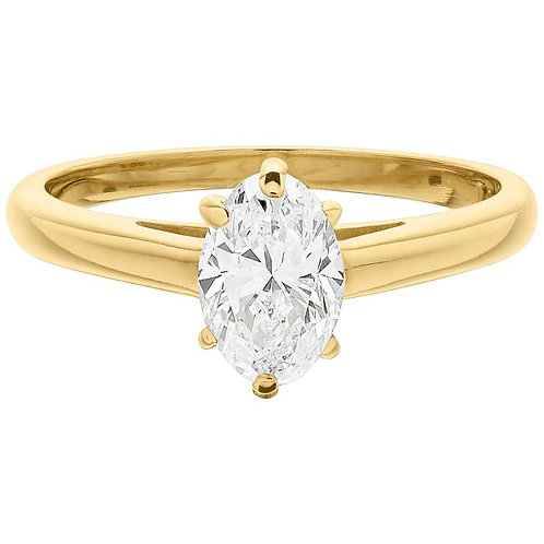 Cartier Diamond 0.90 Carat Single Stone Solitaire Ring in 18 Carat Gold