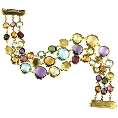 Marco Bicego Jaipur Bracelet in 18 Carat Yellow Gold, Amethyst, Citrie, Garnet
