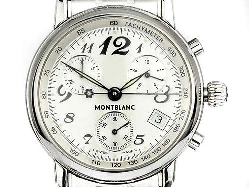 Montblanc Chronograph Star Tachymeter Watch 7038, Quartz, Swiss, Steel