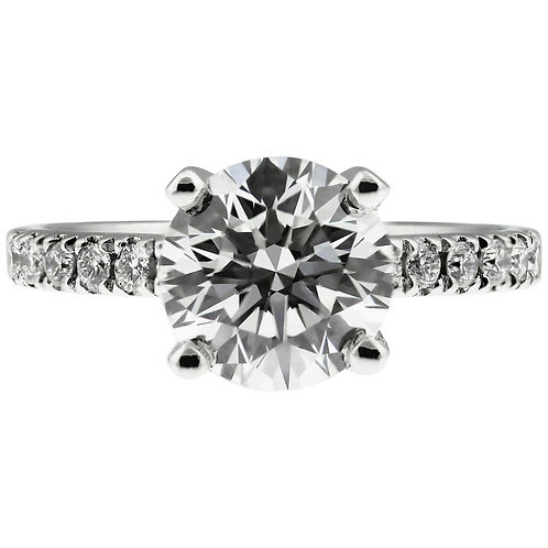 GIA Certified Diamond 2.21 Carat G VS1 Single Stone Solitaire Engagement Ring