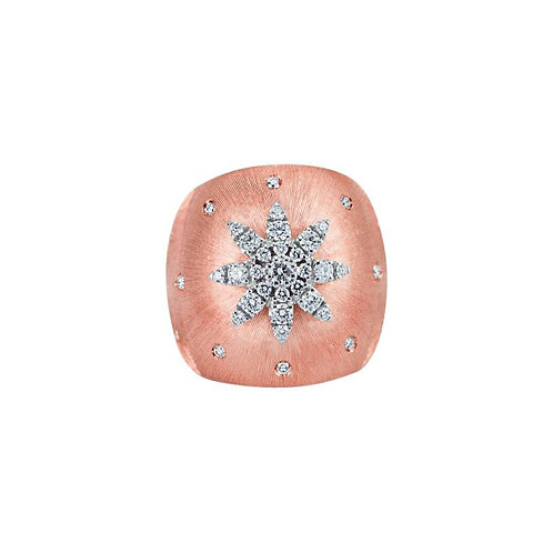 Limited Edition 18 K Rose & White Gold with Round Brilliant Cut Diamond Ring
