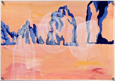 Amalfi coat (2020) acrylic on canvas sheet