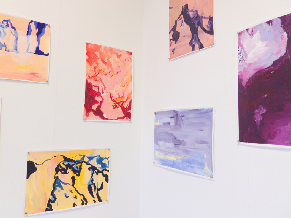 Fernweh Recalculated (2020) Installation view, cropped, VCA Grad Show