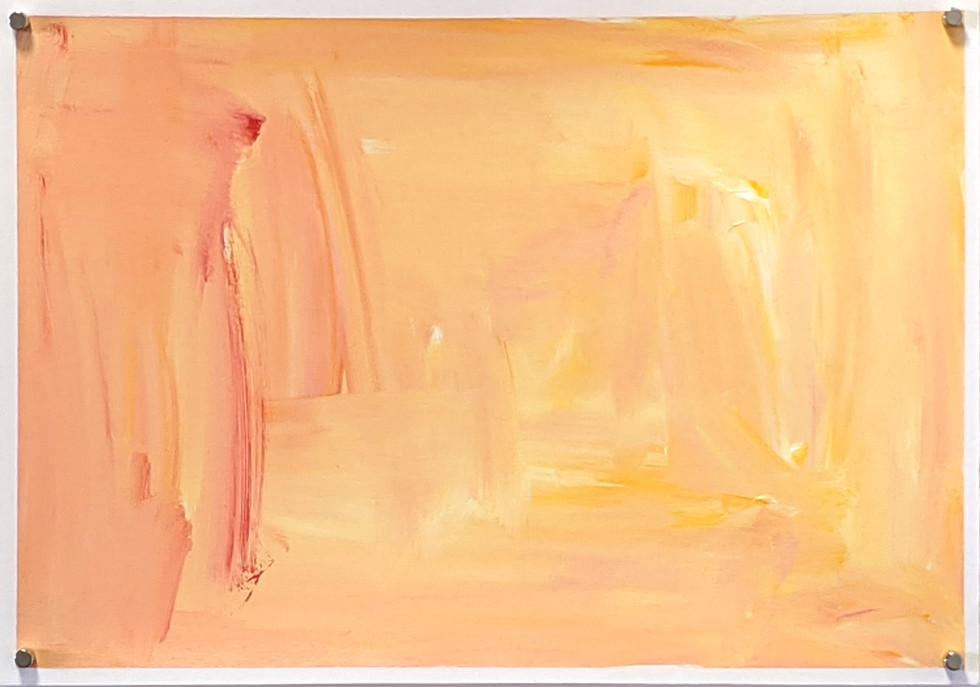 Peaches and sunshine (2020) acrylic on canvas sheet