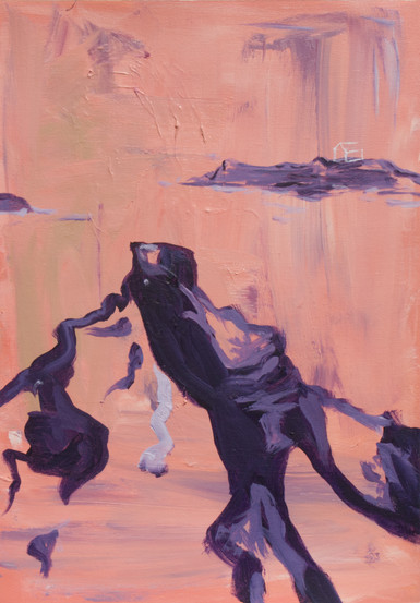 Untitled (2020) acrylic on canvas sheet, 42cm x 30 cm