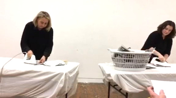Bethany Joyce and Justine Jacobi, Documentation of 'Protest' (2018) performance piece, dimensions variable, 3 min 18 sec.