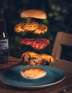 Floating Chicken Burger