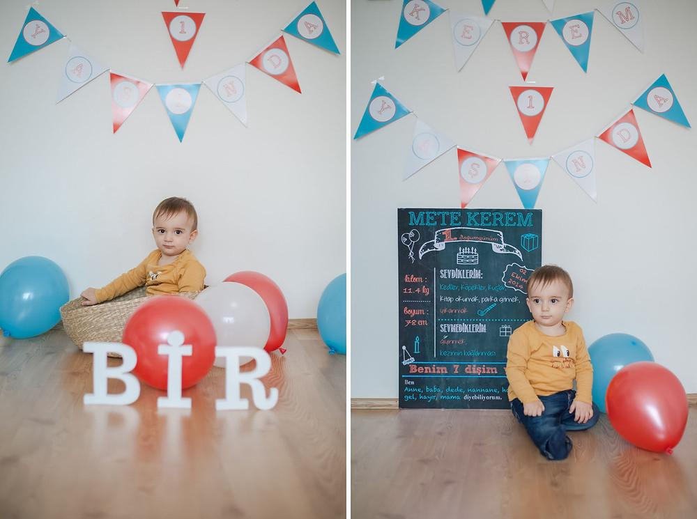 ilk doğum günü fotoğrafları