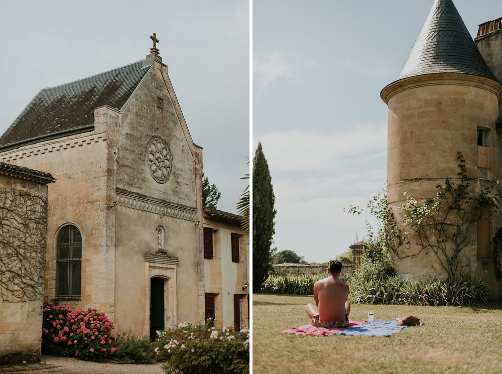 Château Sentout Bordeaux wedding photos