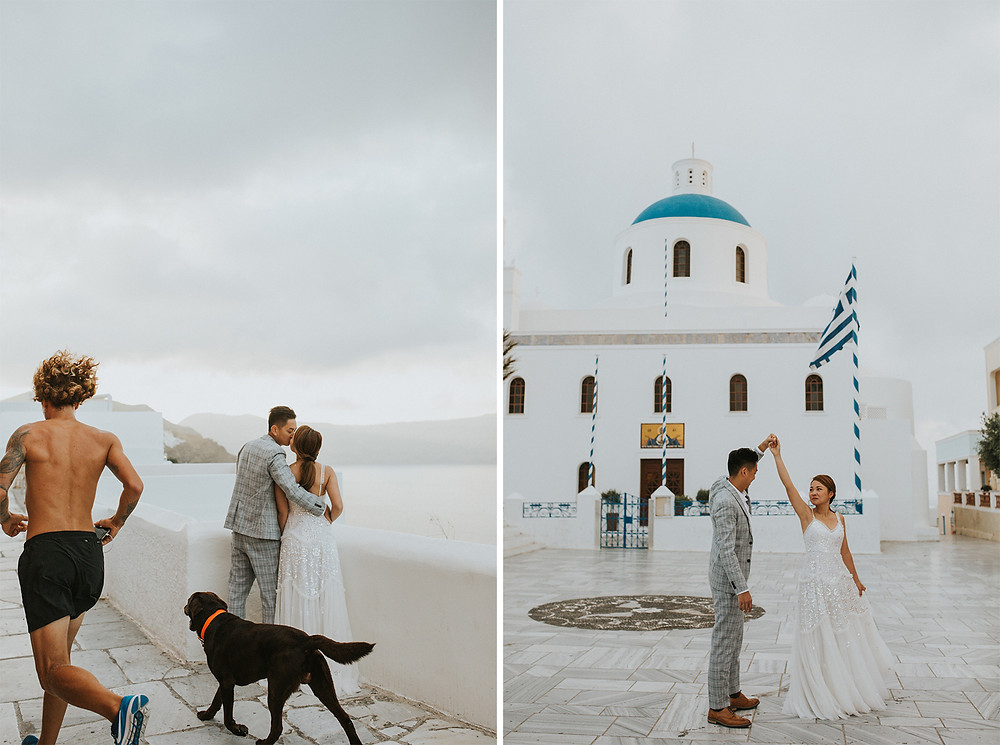 santorini pre wedding photos