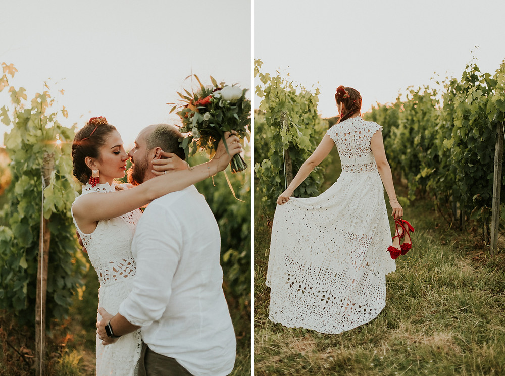 Vineyard wedding photos
