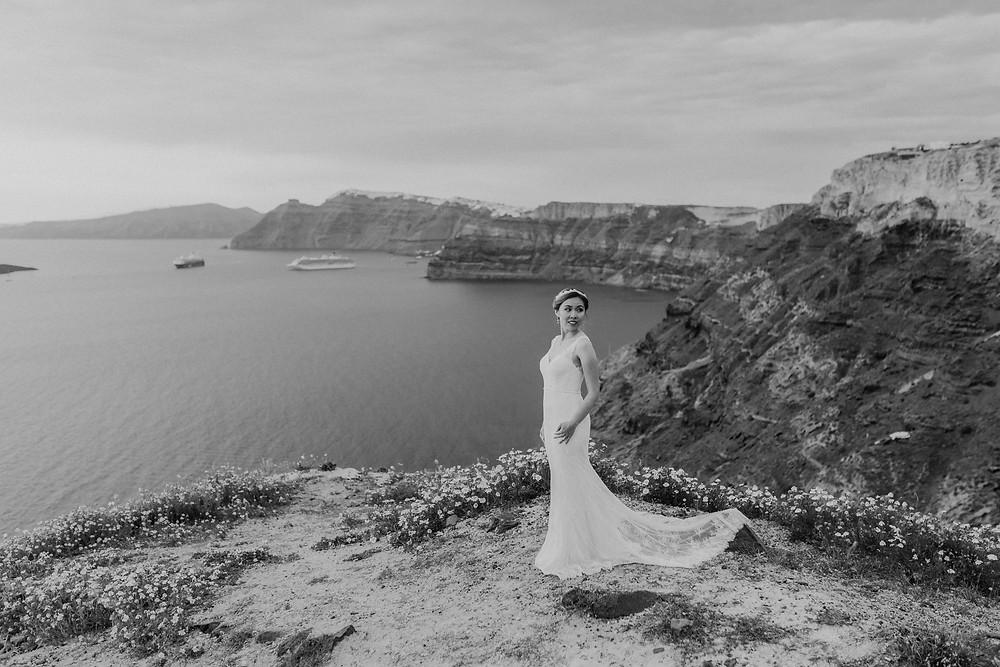 Santorini düğün fotoğrafları