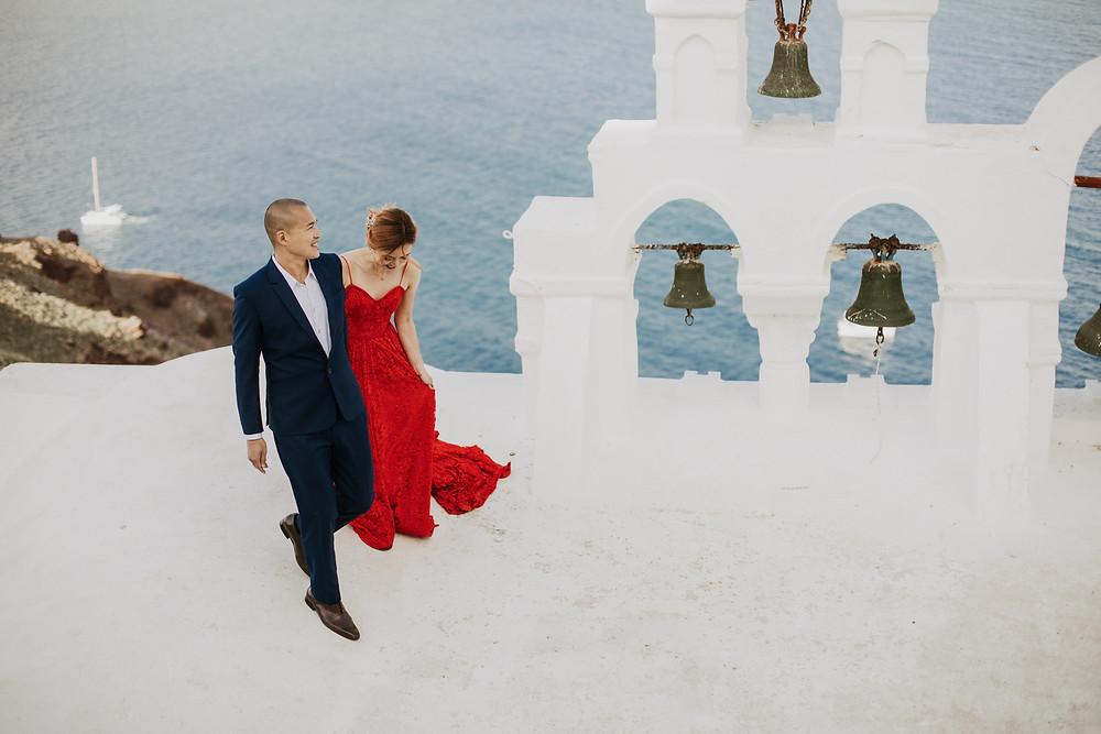 Santorini destination wedding photographer
