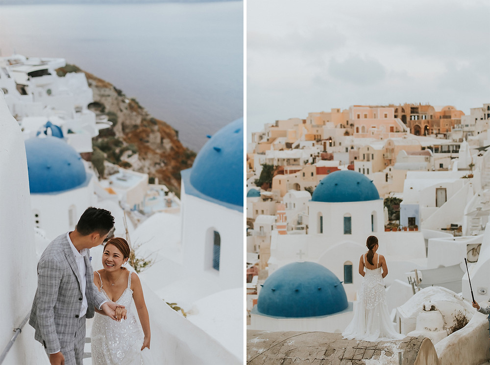santorini pre wedding photographer