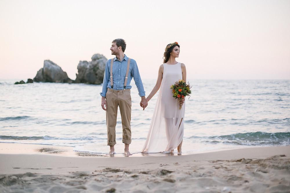 günbatımı düğün fotoğraf çekimi