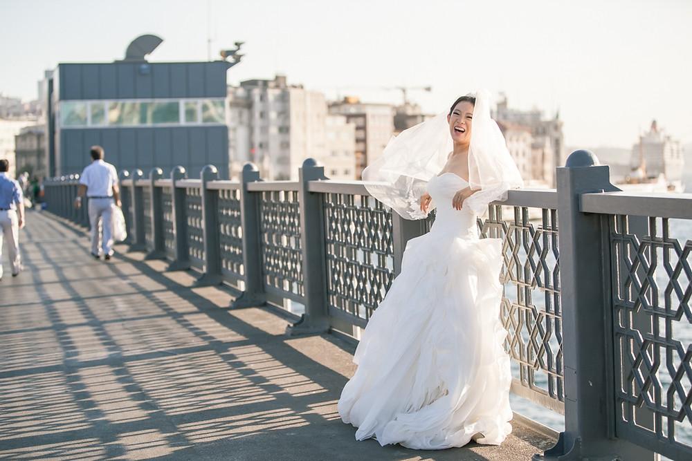 istanbul sokakları düğün fotoğrafları