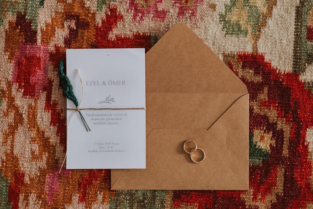 minimal düğün davetiyesi