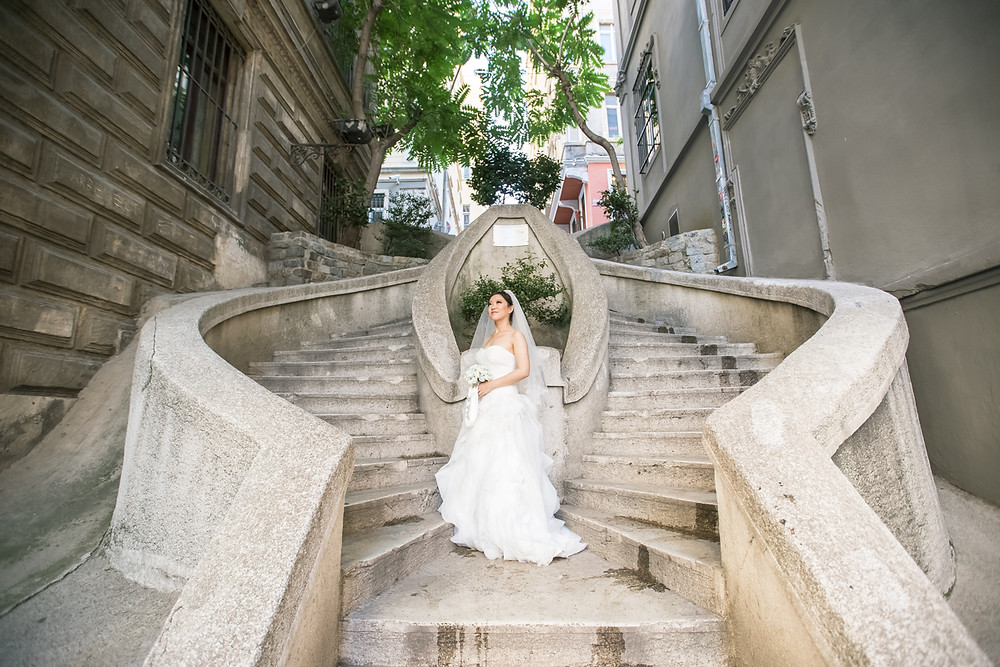 istanbul sokakları düğün fotoğraf çekimi