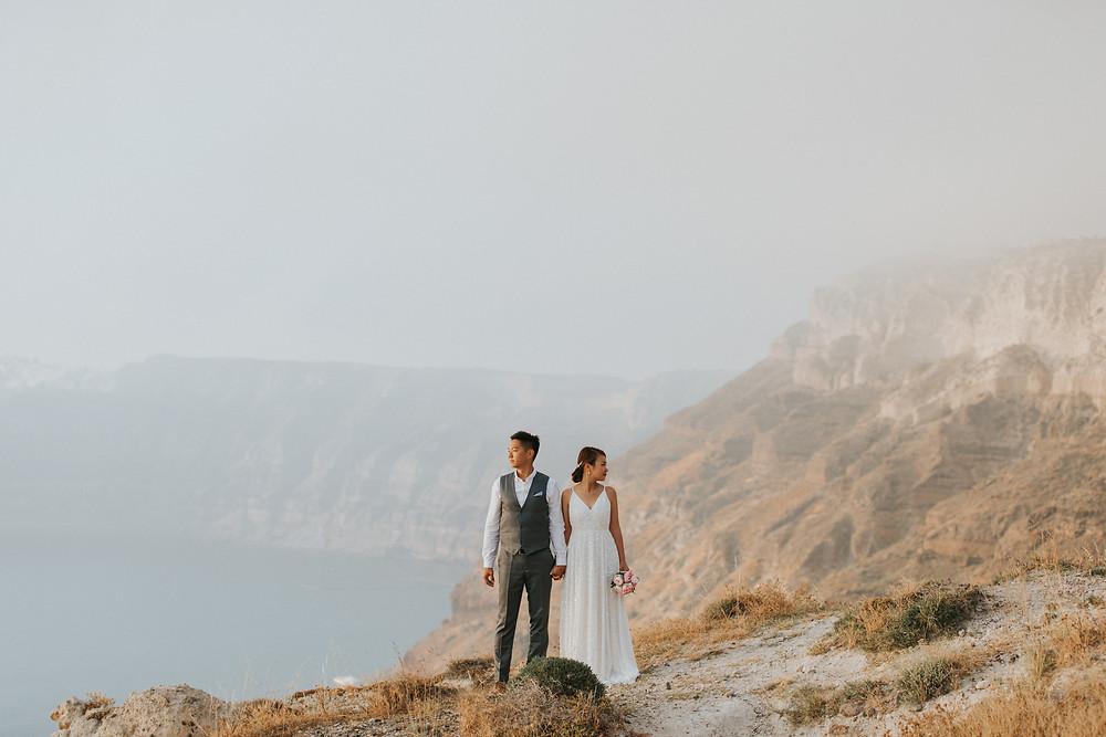 santorini düğün çift çekimi fotoğrafçısı