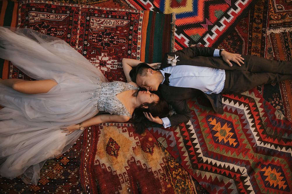 cappadocia pre wedding photographer carpet shop