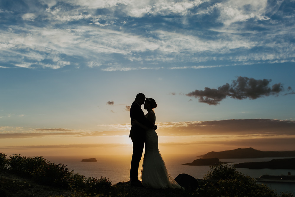 Santorini düğün fotoğrafçısı