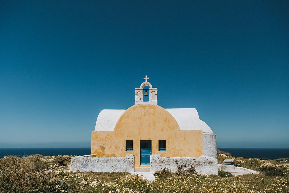 Santorini pre wedding photos