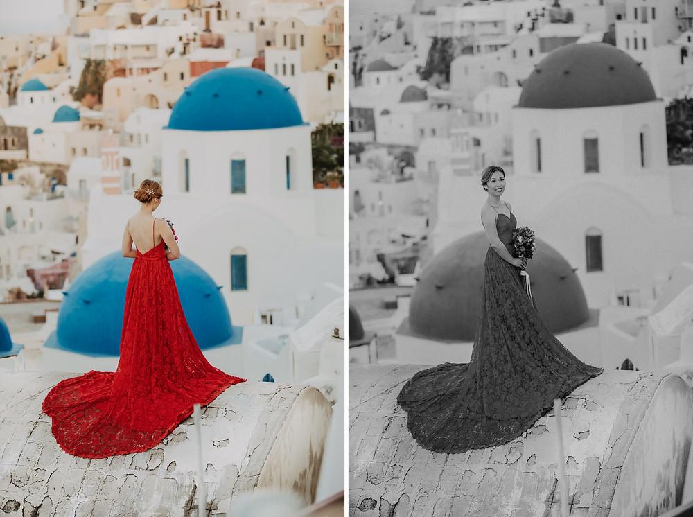 Santorini pre wedding photographer