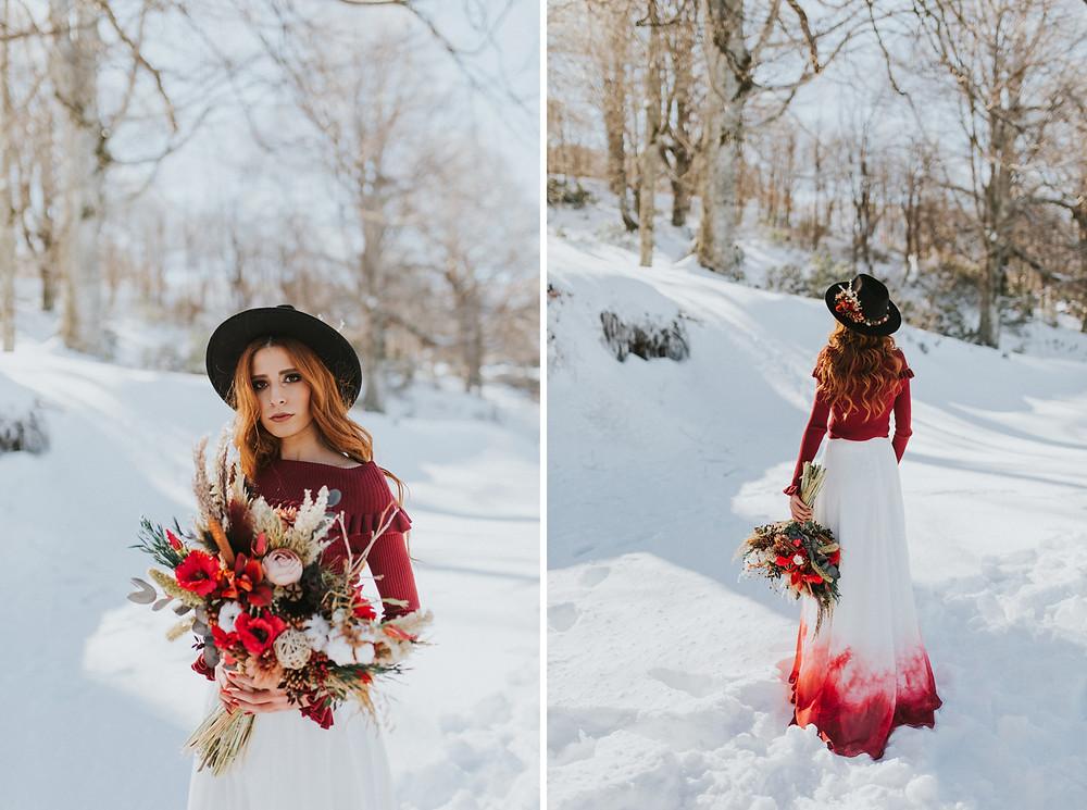 kış düğünü fotoğraf çekimi