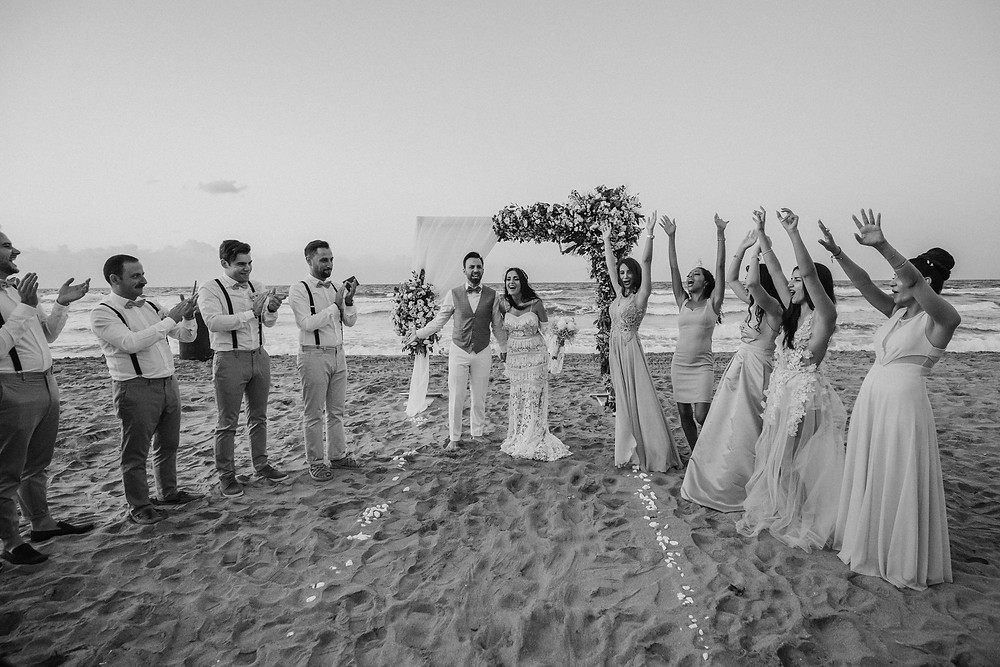 istanbul şile beach wedding photos