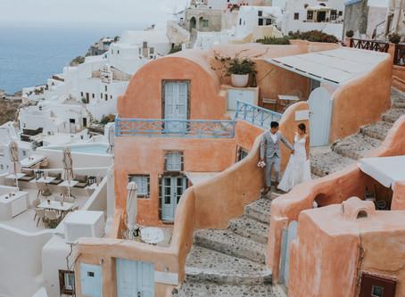 Santorini elopement photographer / Mali & Denny