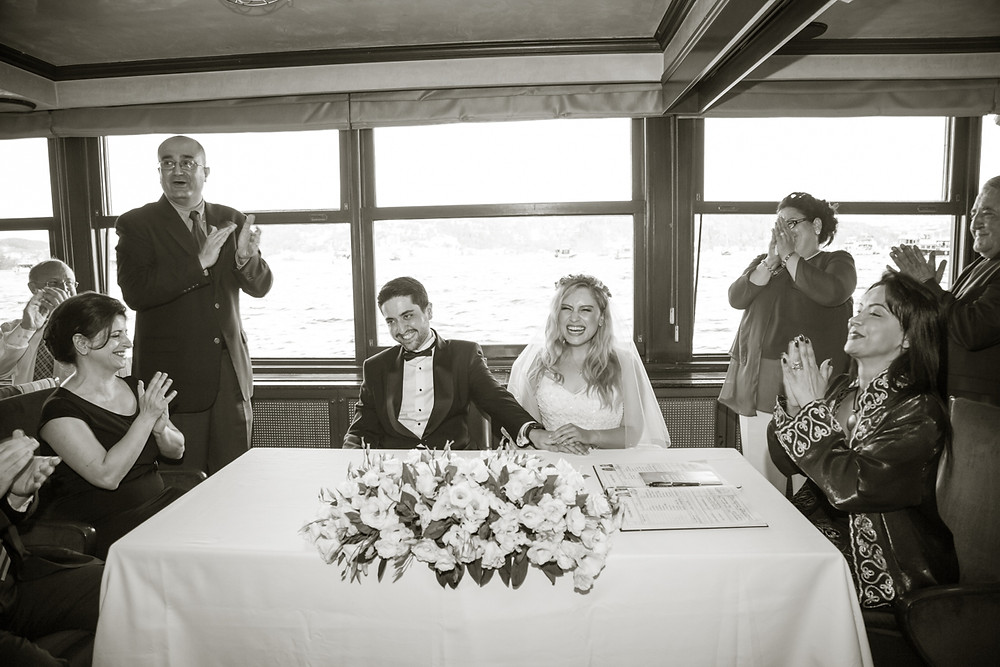 istanbul boat wedding photography