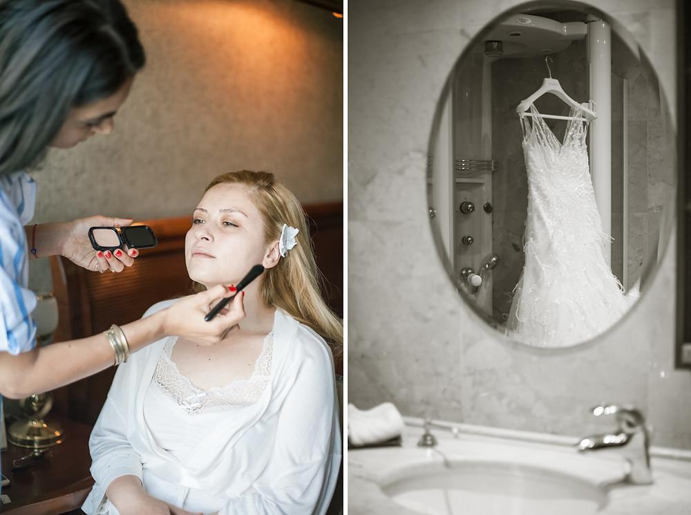 bebek otel düğün hikayesi fotoğrafları