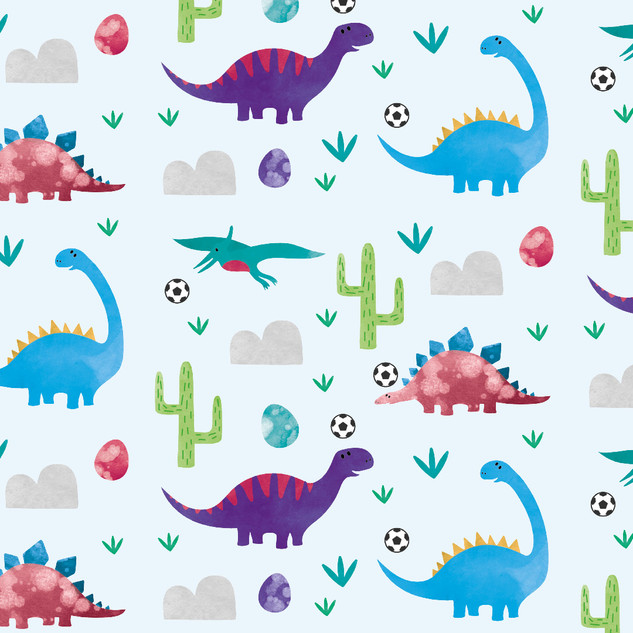 Dinosaurs playing footie - Blues