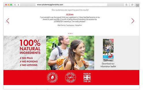 Salutem Supplements website design