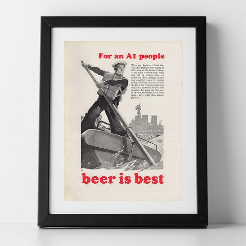 Beer is Best Advert from 1937
