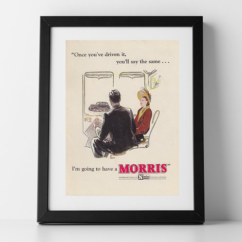Morris Motors Car Advert from 1947