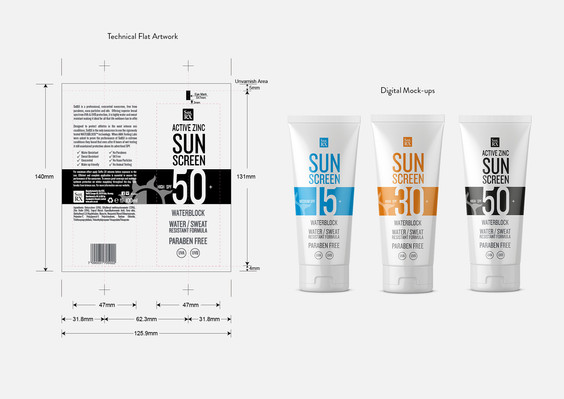 Sol RX Sunscreen Packaging