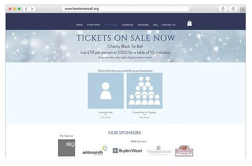 Huntsman website browser mockup - shop.j