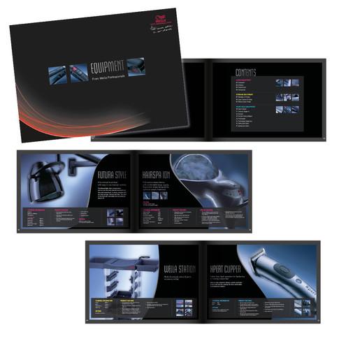 Wella Professionals Equipment Brochure designed by Jellicoe Creative www.jellicoecreative.co.uk
