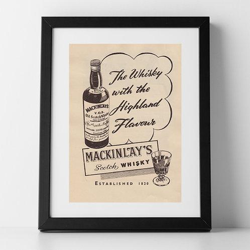 Mackinlay's Scotch Whisky Advert, 1955