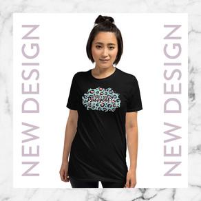 +New & improved t-shirt design +