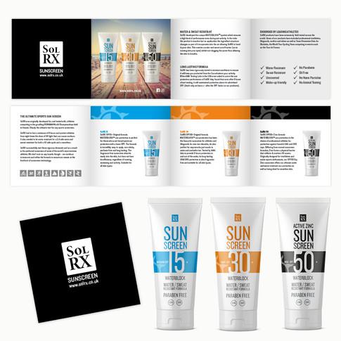SoL RX Sunscreen Brochure & Packaging Redesign by Jellicoe Creative www.jellicoecreative.co.uk