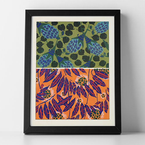 Retro 60's Botanical Abstract Art Print 1