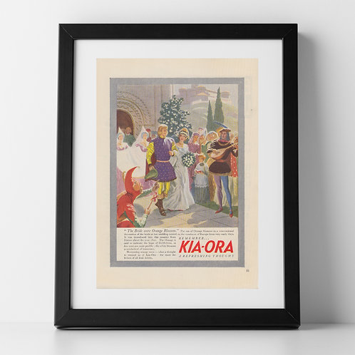Kia Ora Advert from 1947 - Wedding