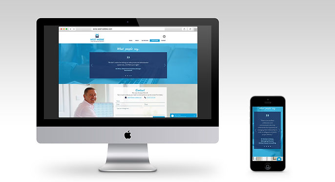 West-Webbe website monitor and mobile mo