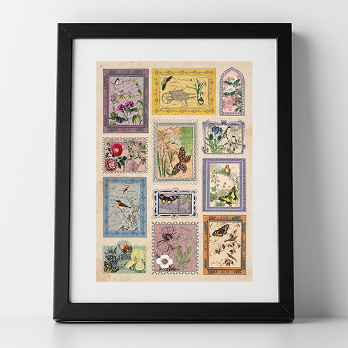 The Stamp Collector A4 Unframed Poster Print